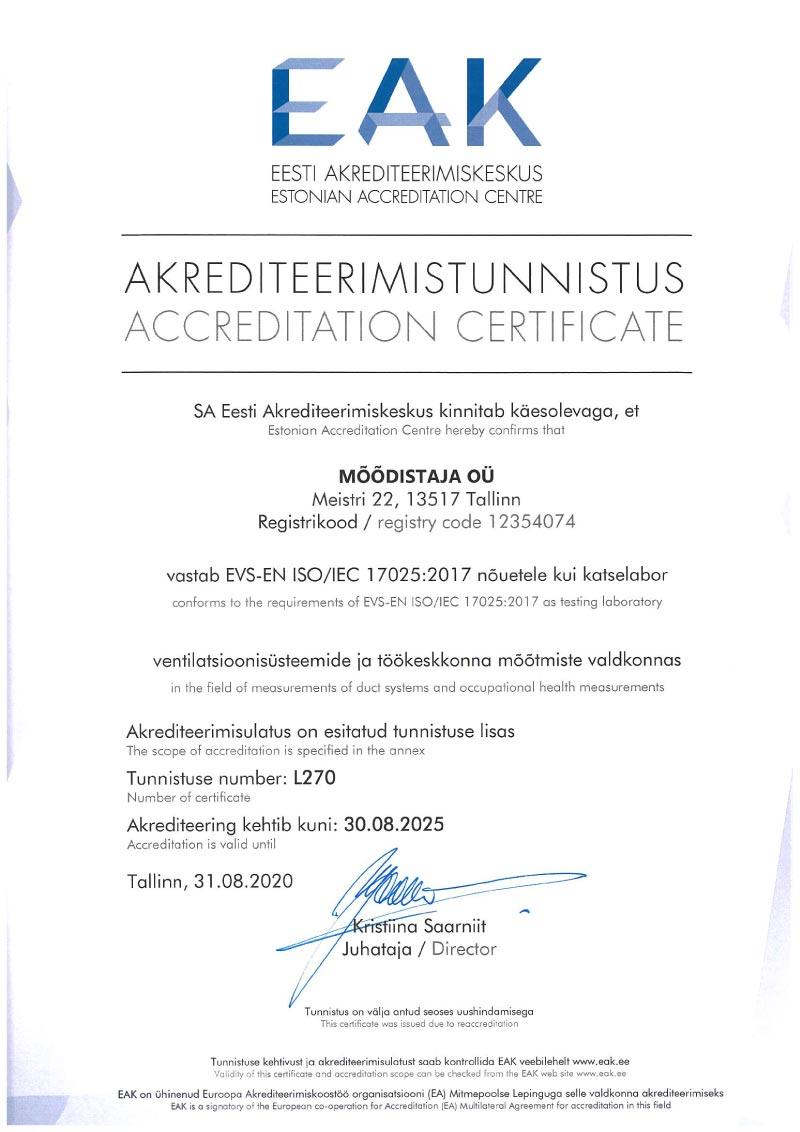 Eesti Akrediteerimistunnistus
